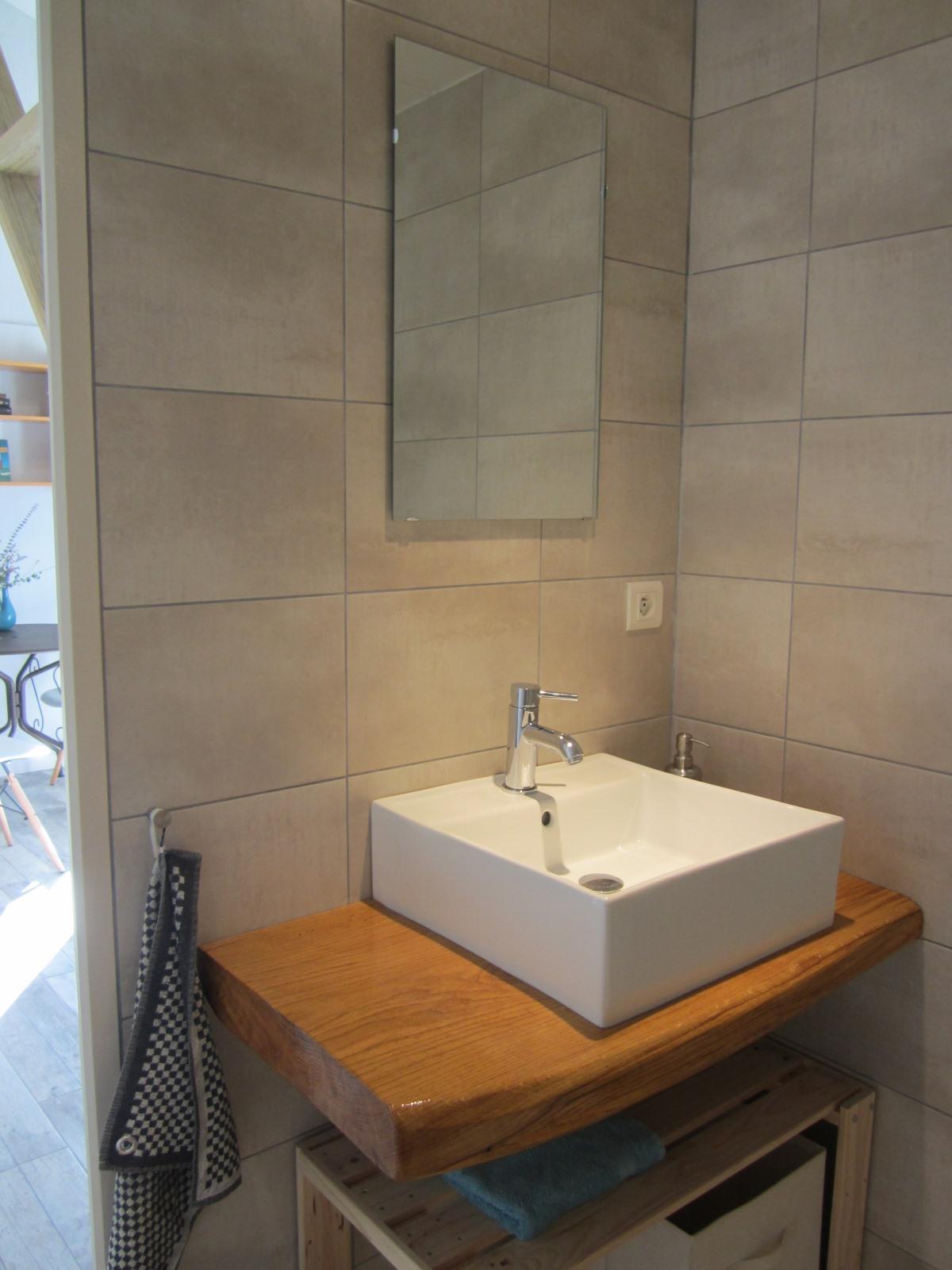ruime badkamer met apart toilet