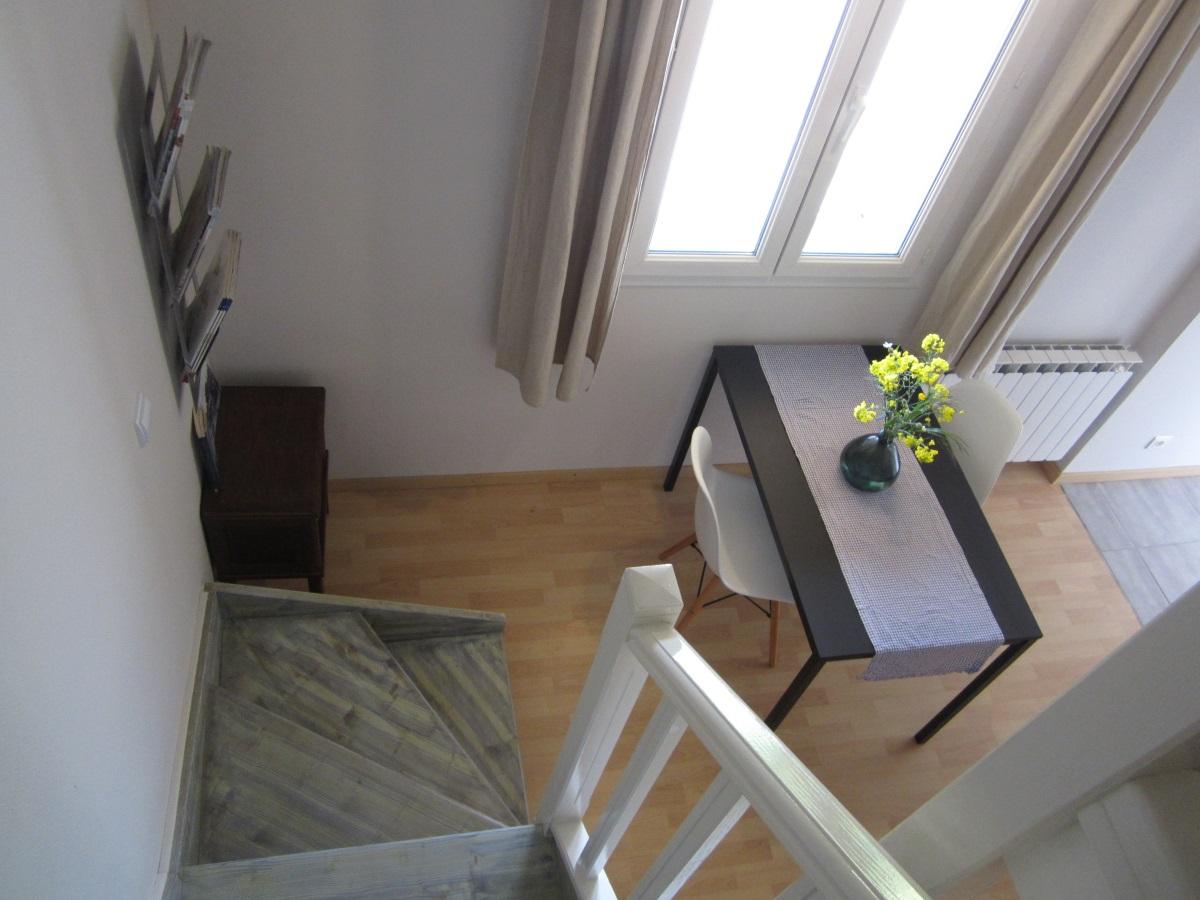zicht vanaf trap le Petit Chenac
